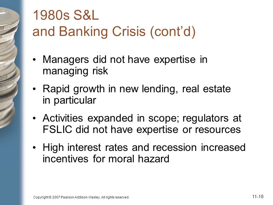 1980s S&L and Banking Crisis (cont'd)