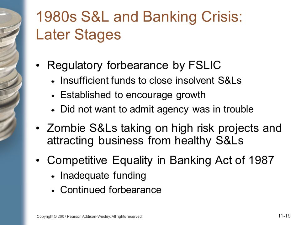 1980s S&L and Banking Crisis: Later Stages