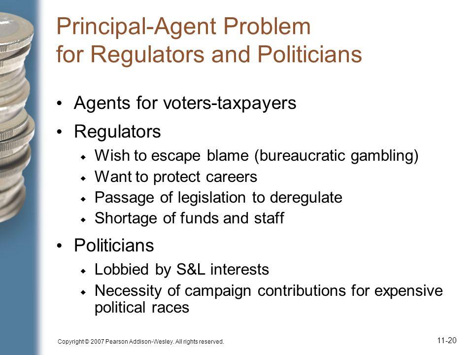 Principal-Agent Problem for Regulators and Politicians