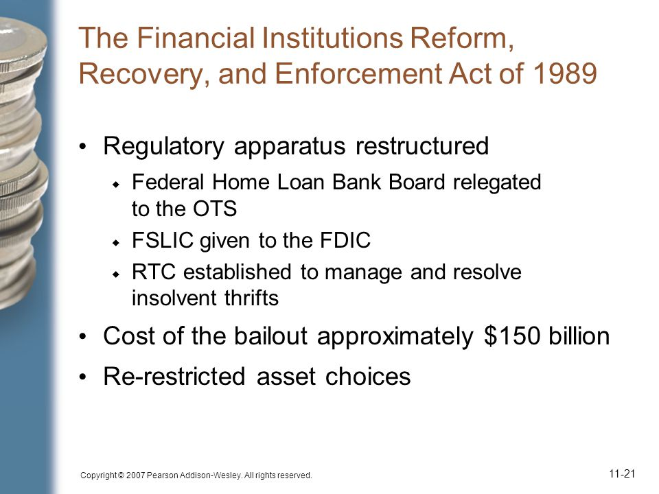 The Financial Institutions Reform, Recovery, and Enforcement Act of 1989