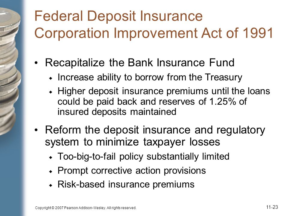 Federal Deposit Insurance Corporation Improvement Act of 1991