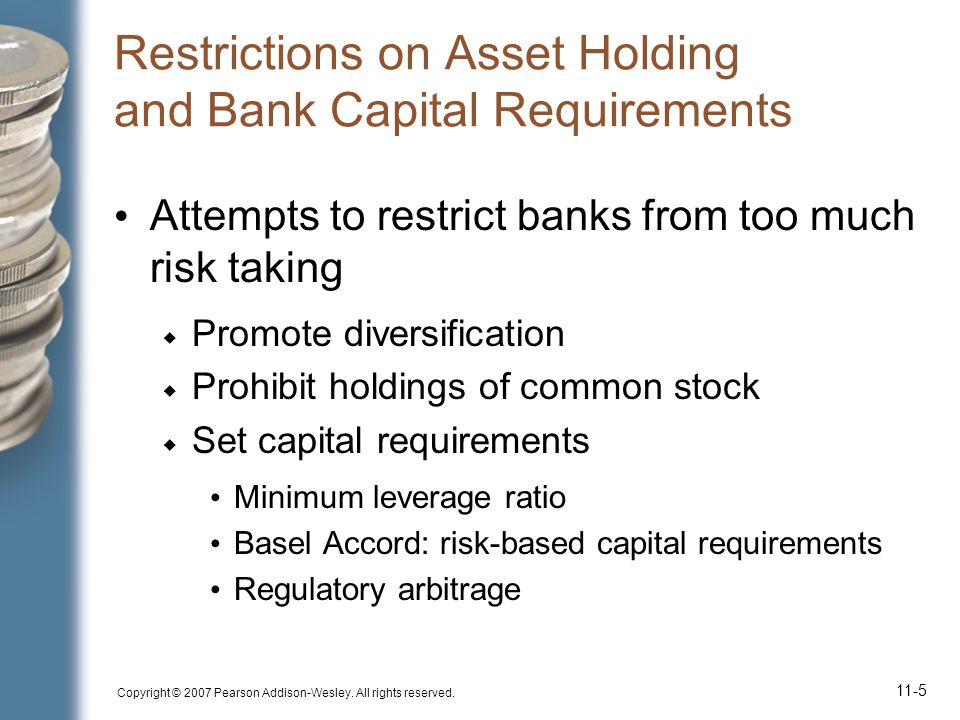 Restrictions on Asset Holding and Bank Capital Requirements