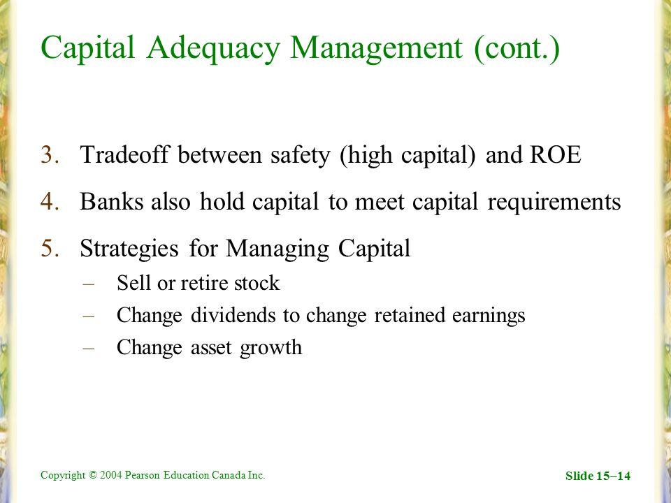 Capital Adequacy Management (cont.)