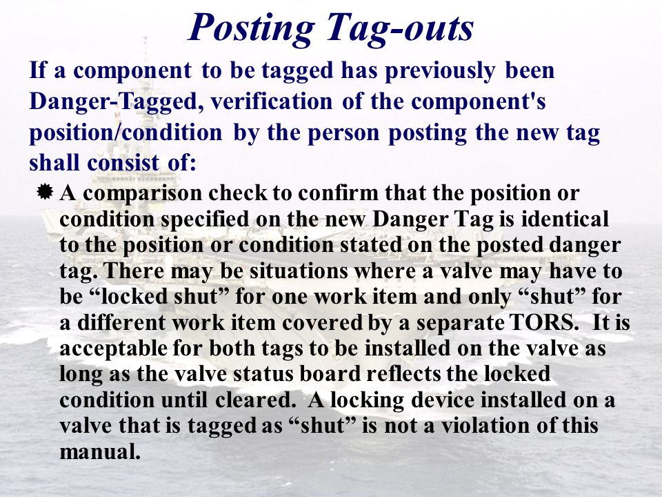 tag out users manual