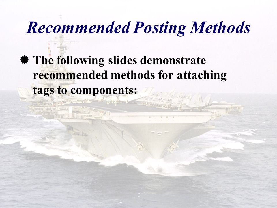 Recommended Posting Methods