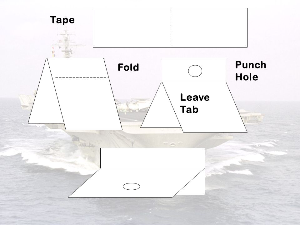 Tape Punch Hole Fold Leave Tab 2 2 2