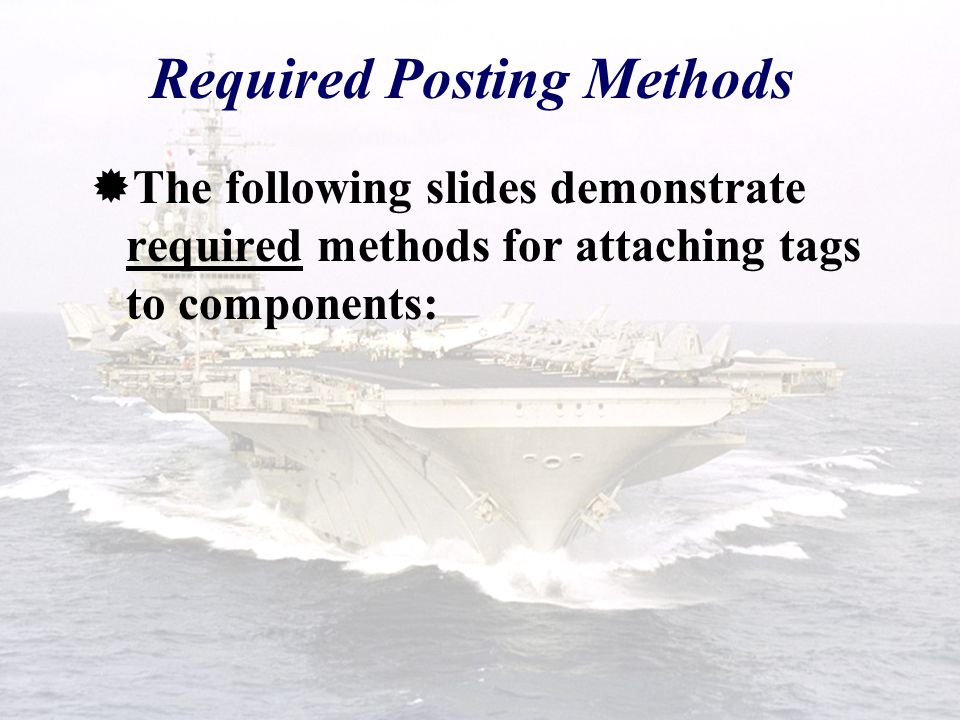 Required Posting Methods