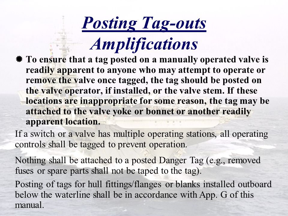Posting Tag-outs Amplifications