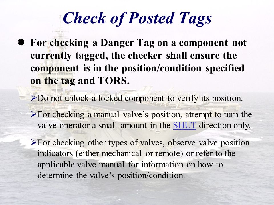 Check of Posted Tags