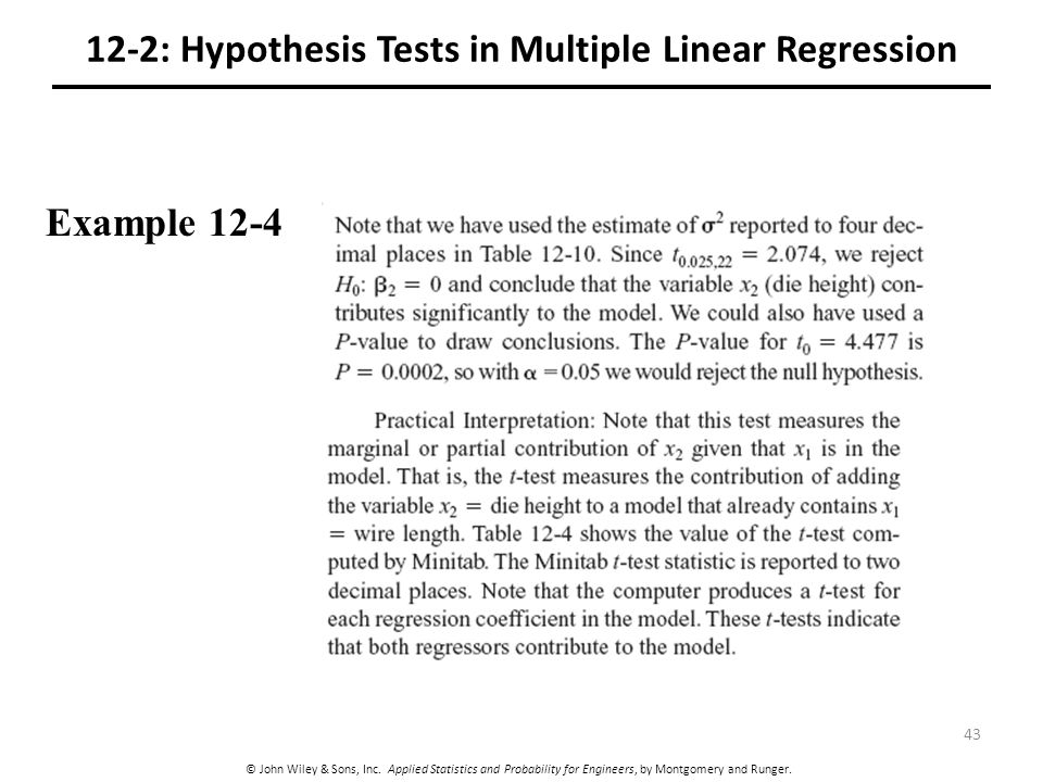 12-2: Hypothesis Tests in Multiple Linear Regression