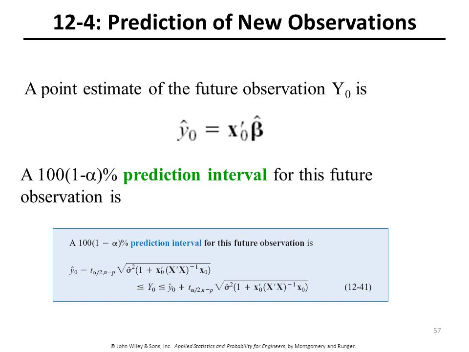 12-4: Prediction of New Observations
