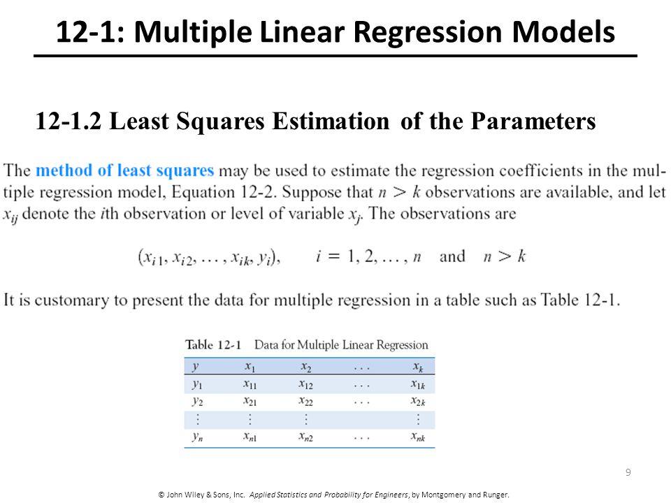 12-1: Multiple Linear Regression Models