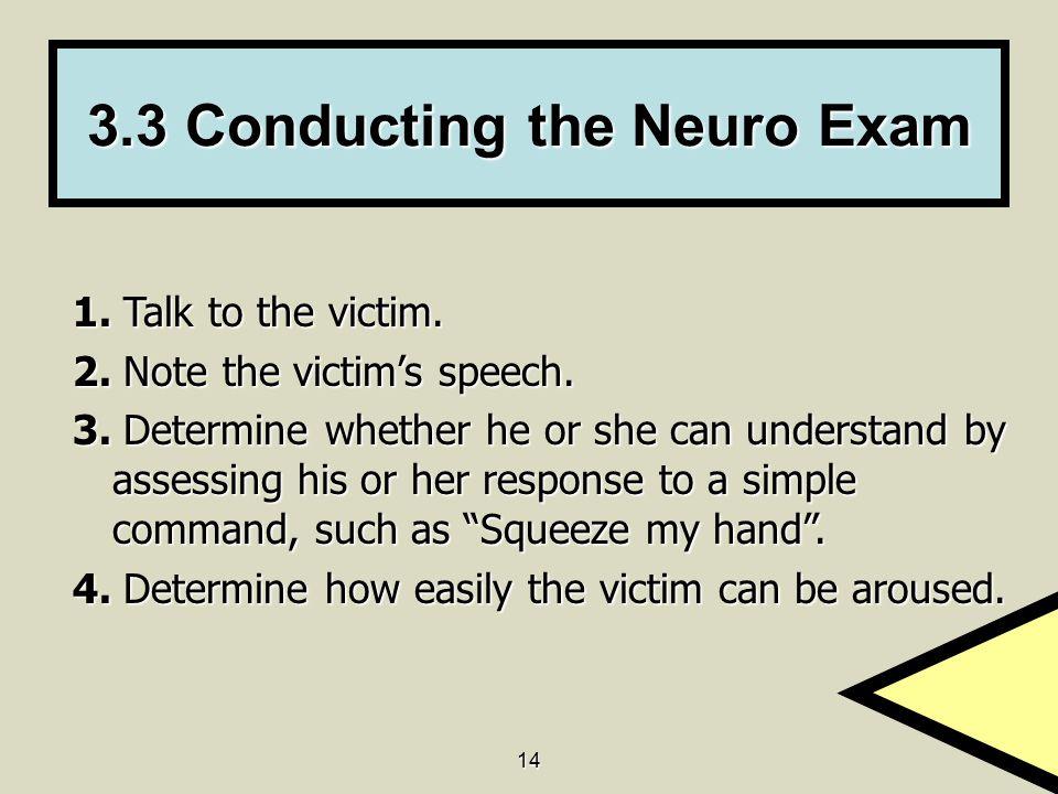 3.3 Conducting the Neuro Exam