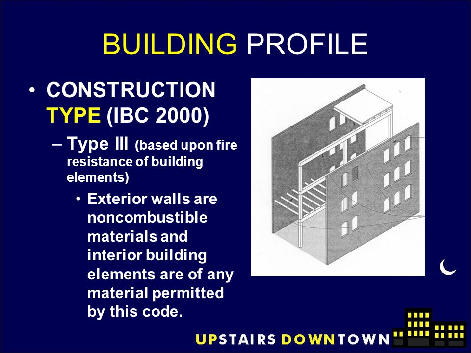 BUILDING PROFILE CONSTRUCTION TYPE (IBC 2000)