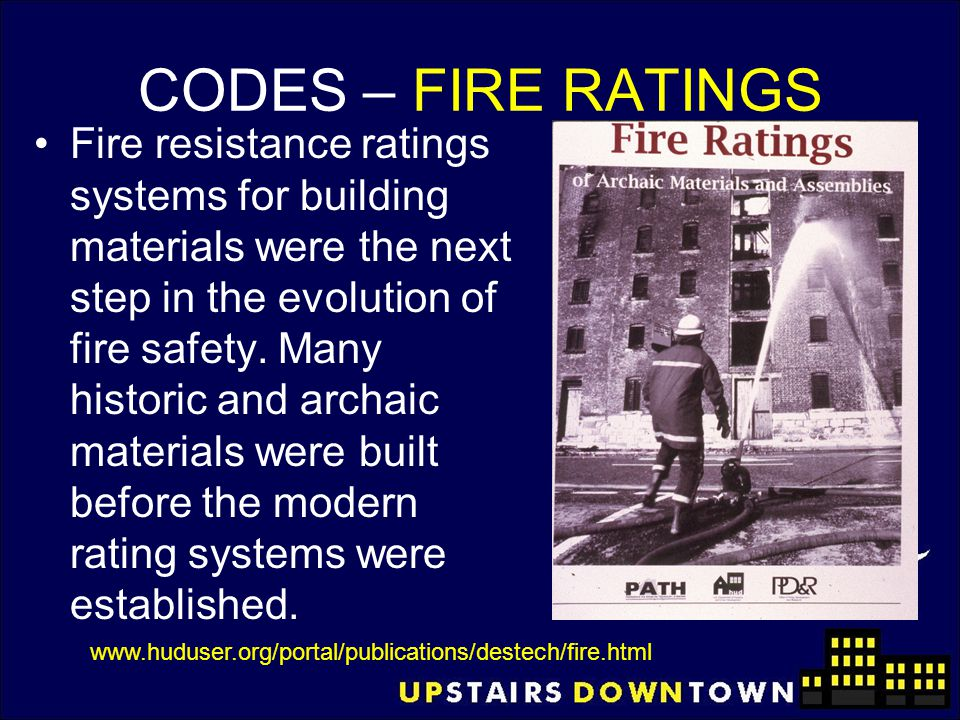 CODES – FIRE RATINGS