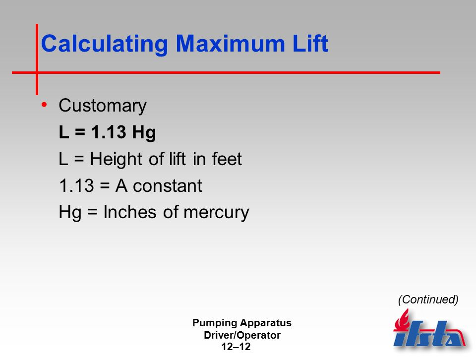 Calculating Maximum Lift
