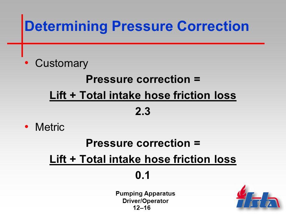 Determining Net Pump Discharge Pressure at Draft