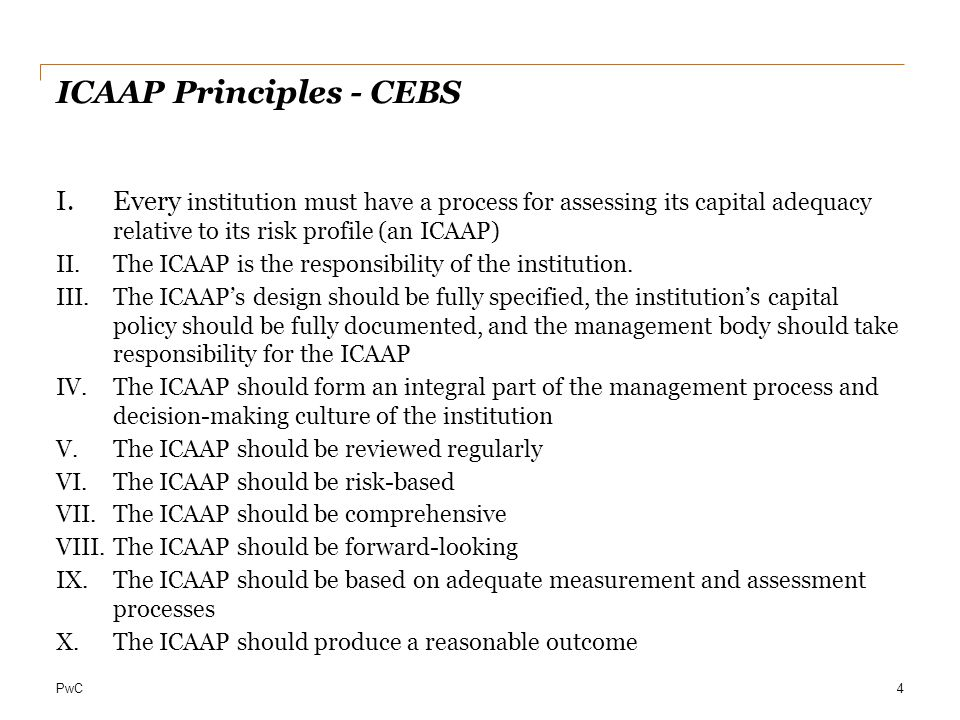 ICAAP Principles - CEBS
