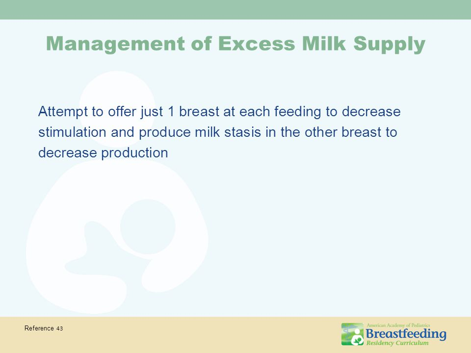 Management of Excess Milk Supply