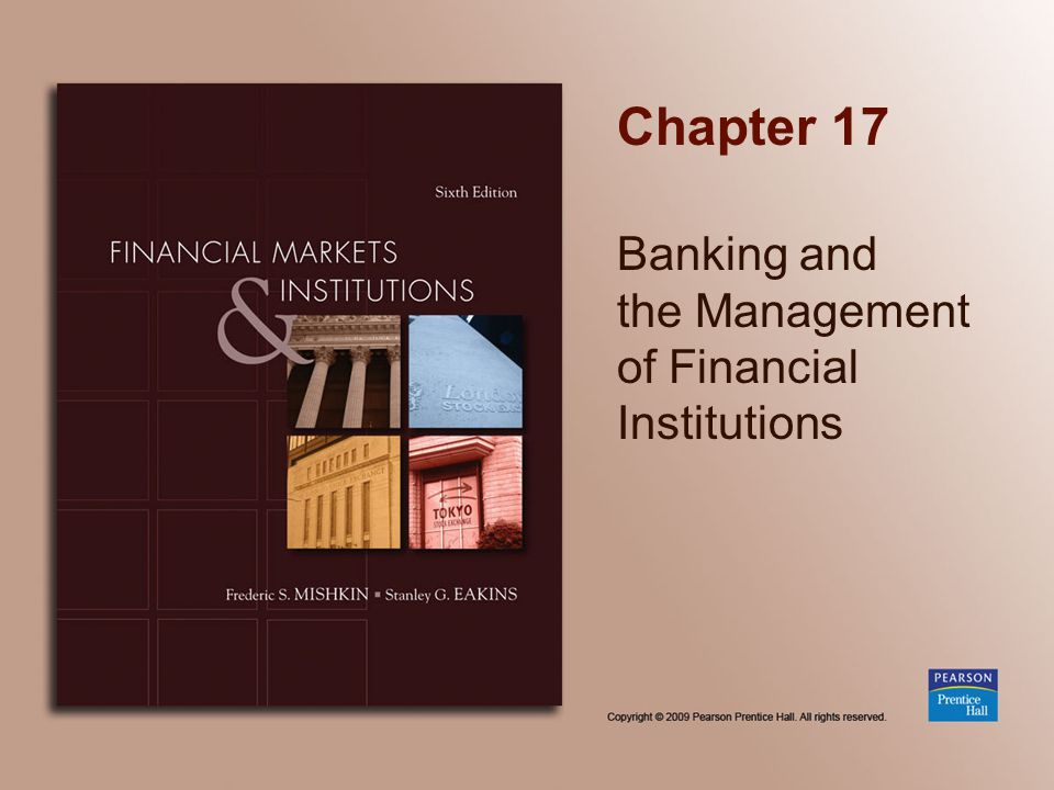 Banking and the Management of Financial Institutions