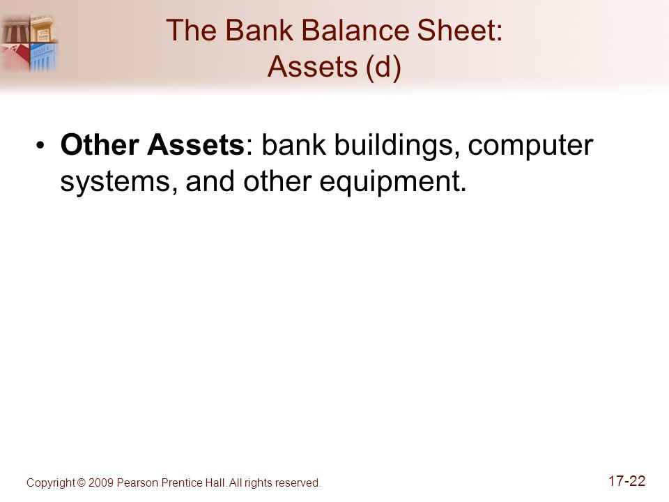 The Bank Balance Sheet: Assets (d)