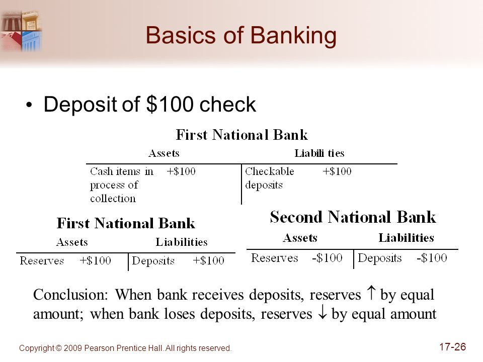 Basics of Banking Deposit of $100 check