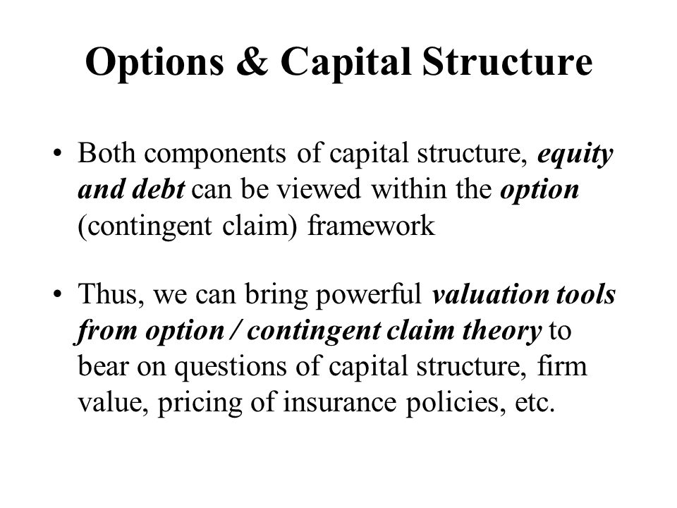 Options & Capital Structure