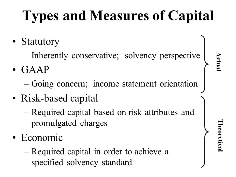 Types and Measures of Capital