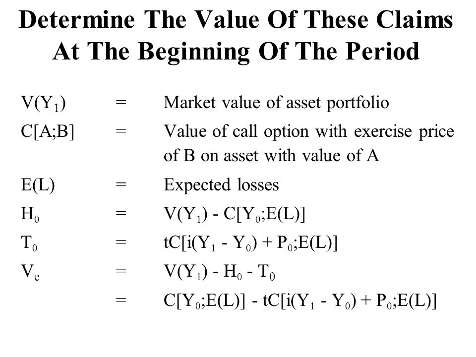 Determine The Value Of These Claims At The Beginning Of The Period