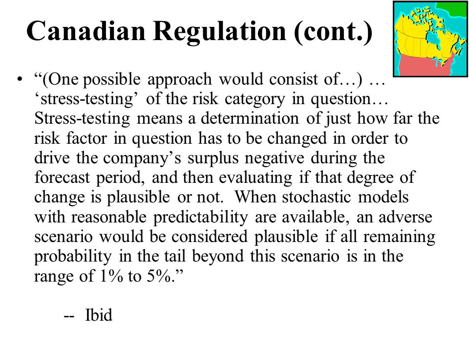 Canadian Regulation (cont.)