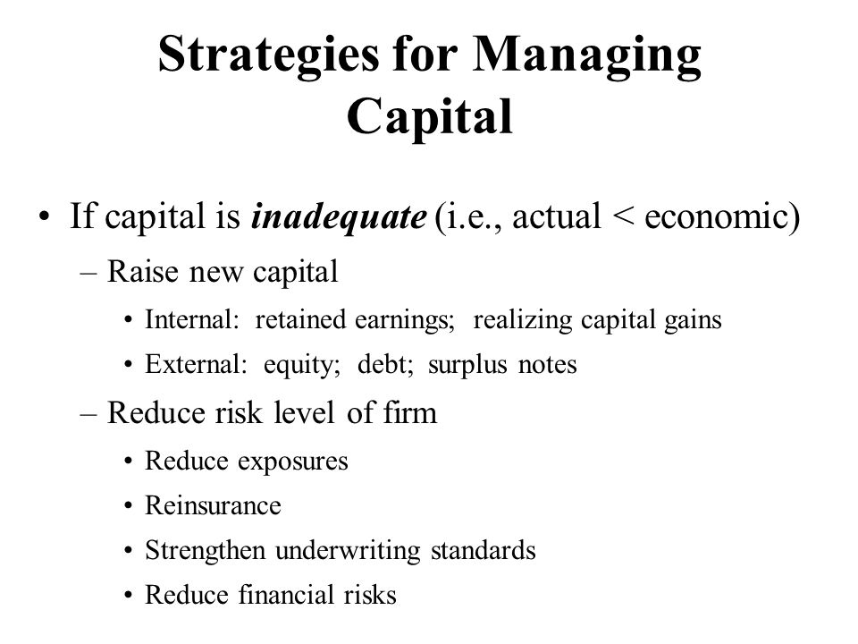 Strategies for Managing Capital