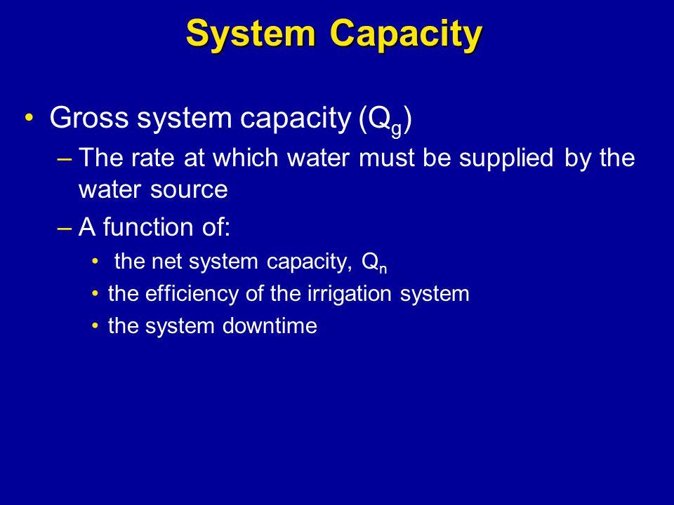 System Capacity Gross system capacity (Qg)