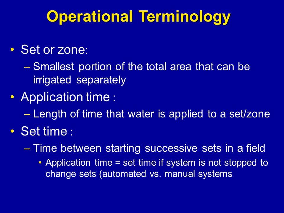 Operational Terminology