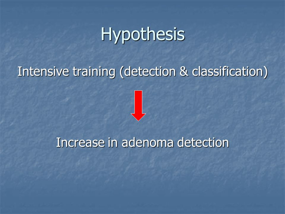 Hypothesis Intensive training (detection & classification)