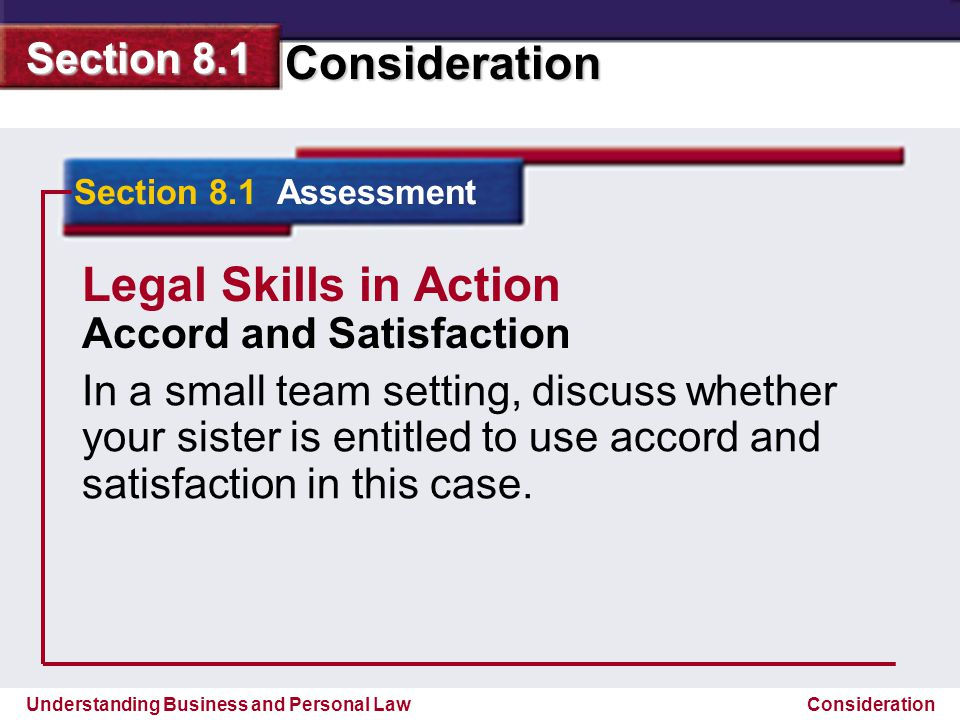 Legal Skills in Action Accord and Satisfaction