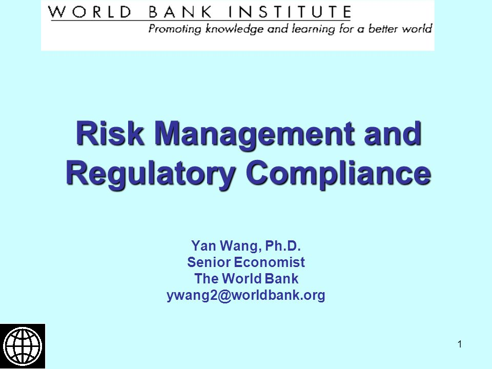 Risk Management and Regulatory Compliance