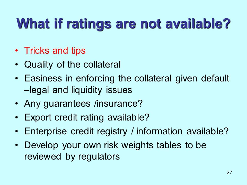 What if ratings are not available