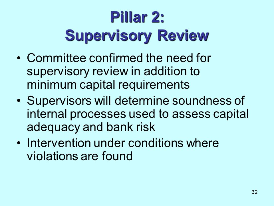 Pillar 2: Supervisory Review
