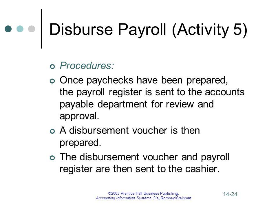 Disburse Payroll (Activity 5)