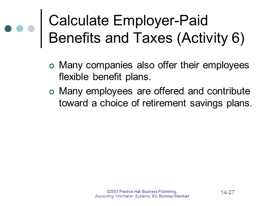 Calculate Employer-Paid Benefits and Taxes (Activity 6)
