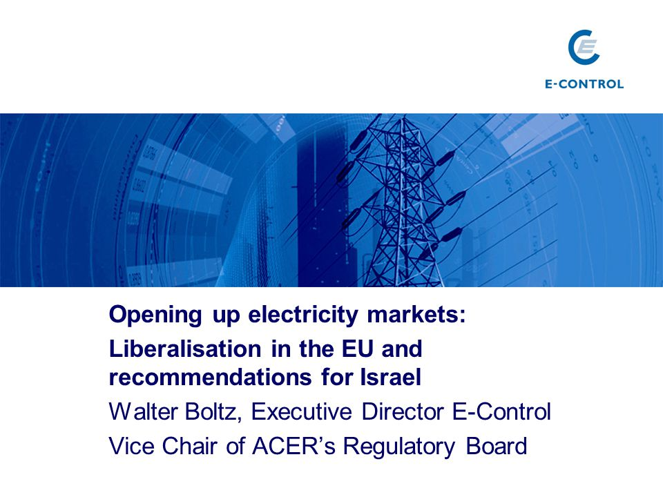 Opening up electricity markets: