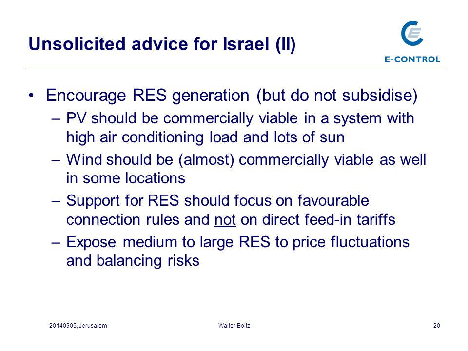Unsolicited advice for Israel (II)