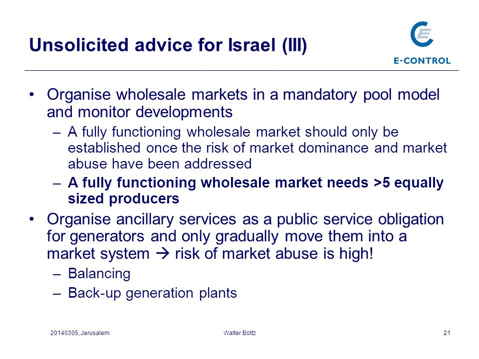 Unsolicited advice for Israel (III)