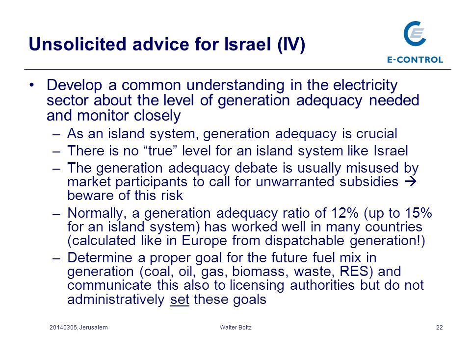 Unsolicited advice for Israel (IV)
