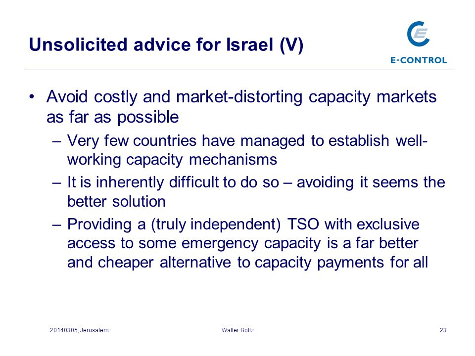 Unsolicited advice for Israel (V)
