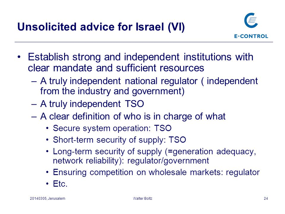 Unsolicited advice for Israel (VI)