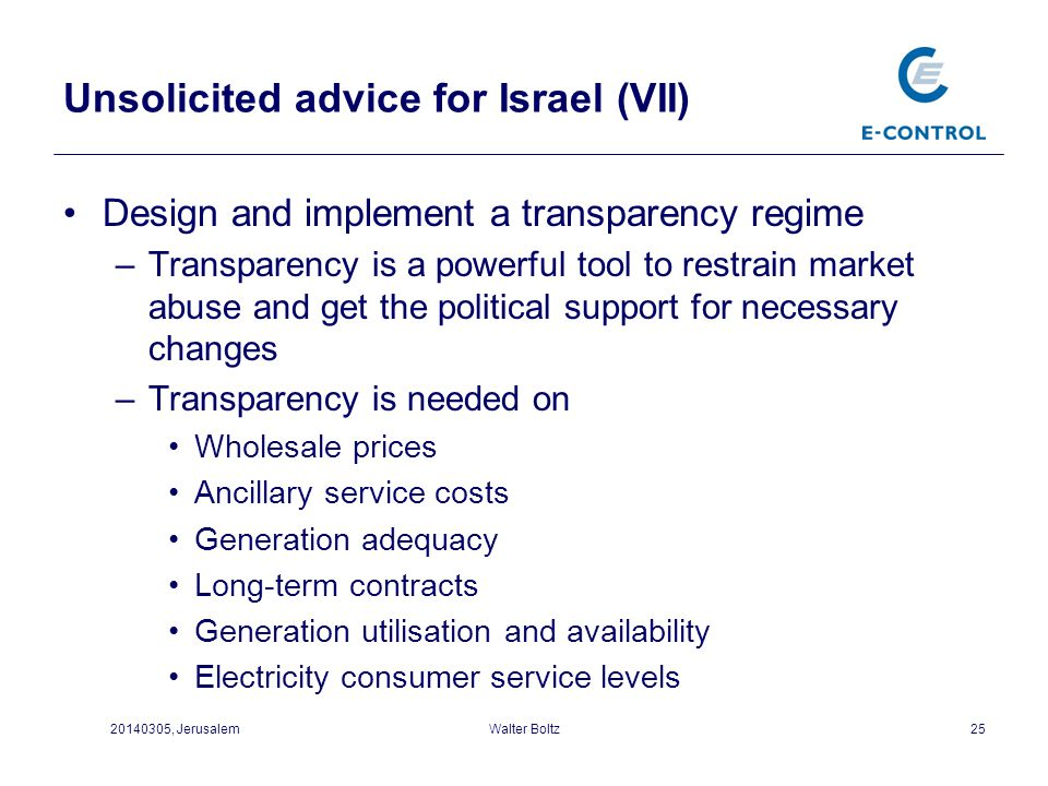 Unsolicited advice for Israel (VII)