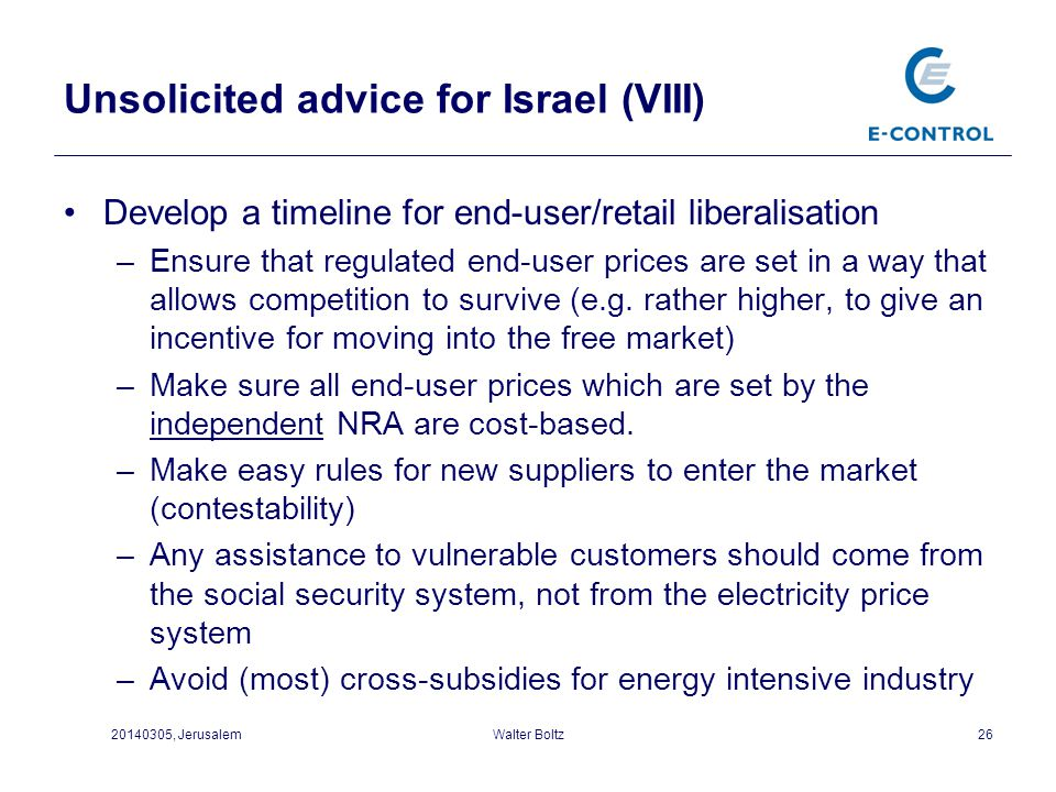 Unsolicited advice for Israel (VIII)