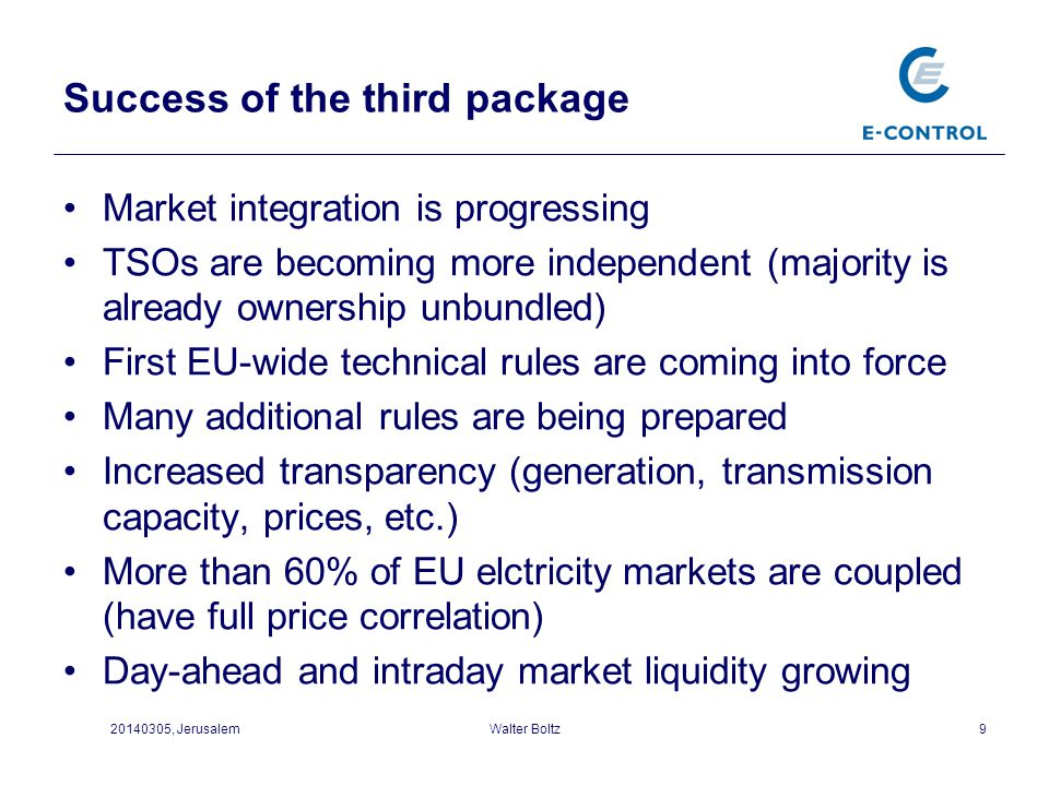 Success of the third package
