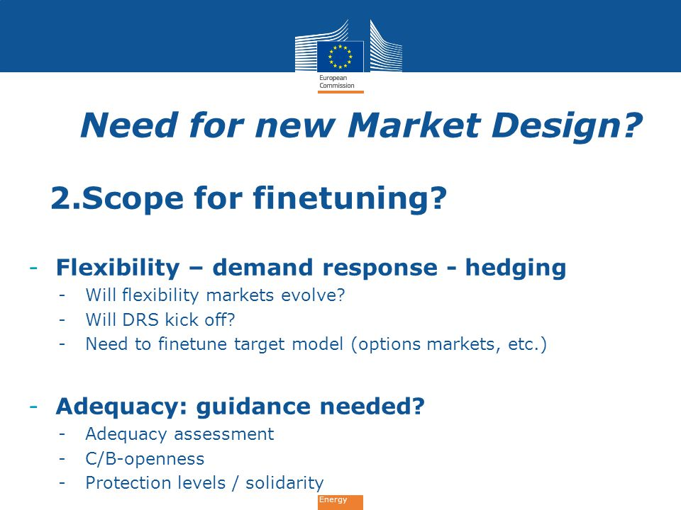 Need for new Market Design